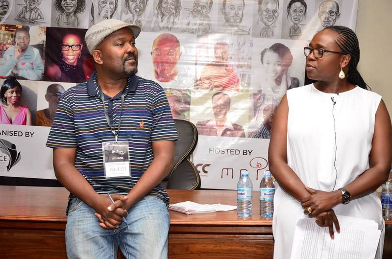 James Murua with Jennifer Nansubuga Makumbi at Writivism 2015.